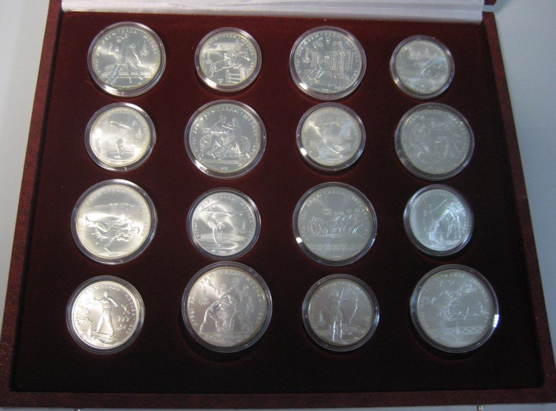 Silbermünzen Russland 14x 5 14x 10 Rubel Olympiade Moskau 1980 In