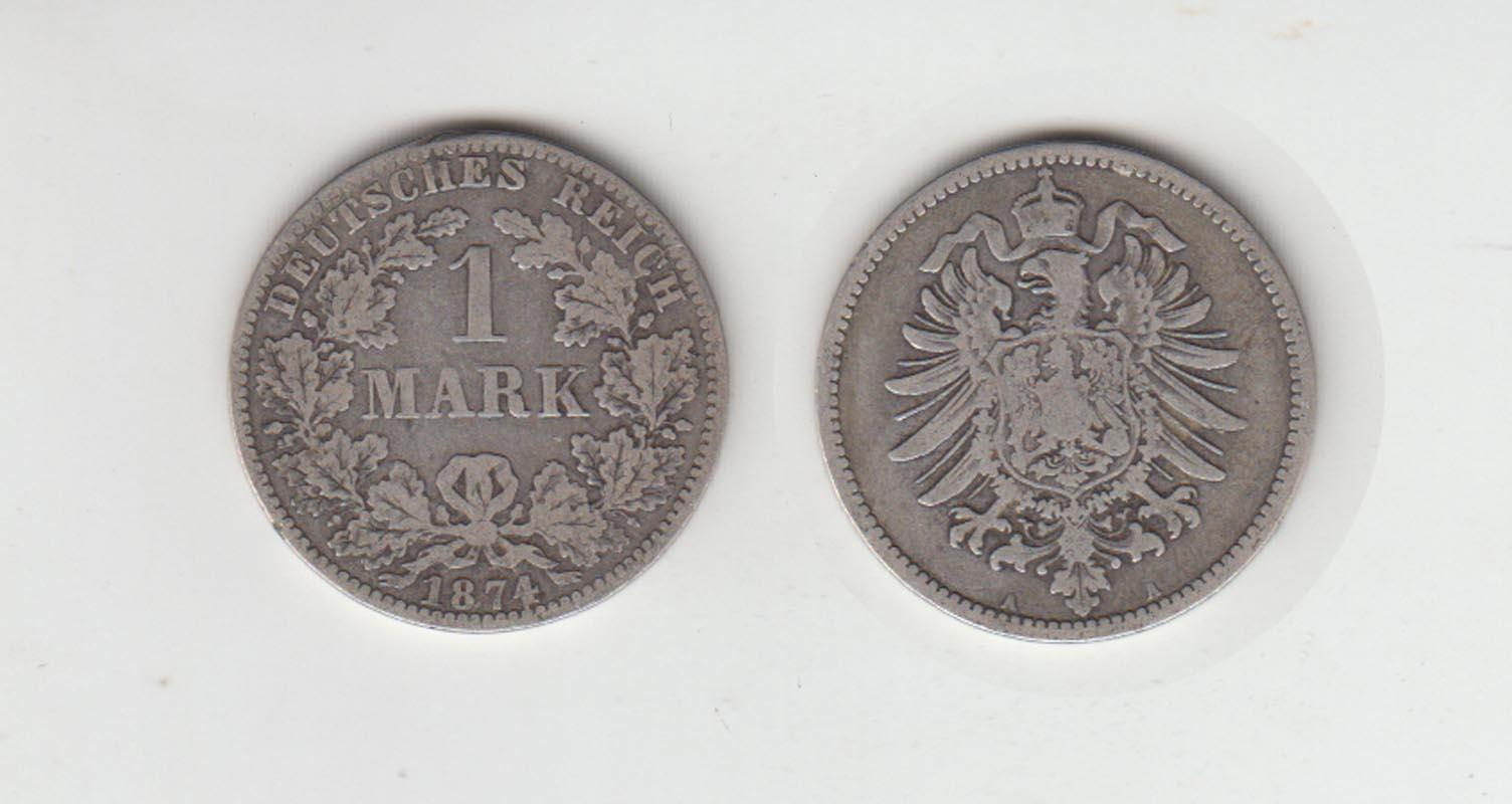 Silbermünze Kaiserreich 1 Mark 1874 A Jäger Nr 9 28 Philastudio