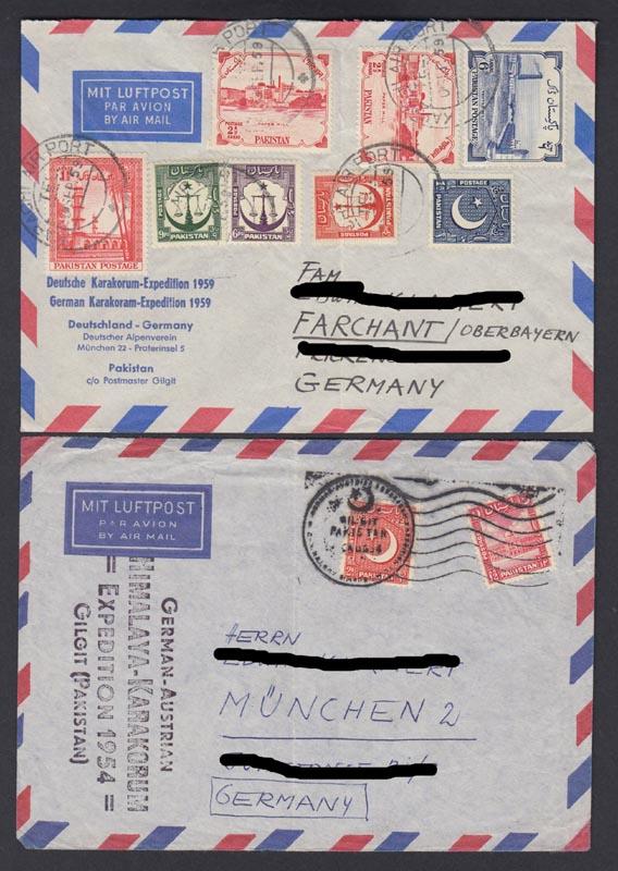 Briefe Mit Luftpost : Briefe pakistan echt gelaufen per luftpost siehe