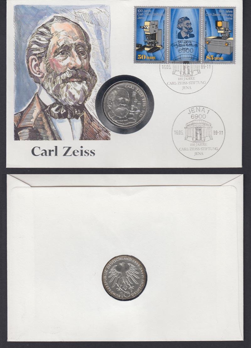 Numisbrief Ddr 100 Jahre Carl Zeiss Stiftung 1989 Mit 10 Dm Münze
