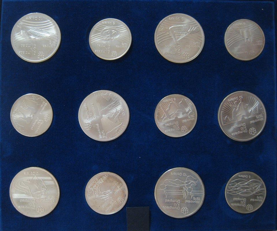 28 Silbermünzen Kanada 5 10 Dollar Olympiade Montreal 1976 In